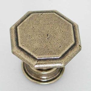 Antique Brass Octagon Knob