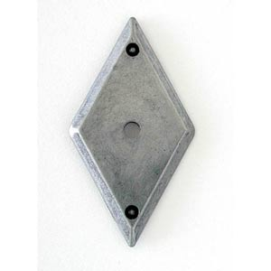 Antique Pewter Diamond Backplate