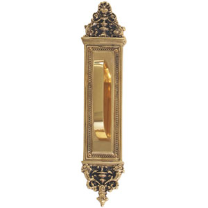 Apollo Highlighted Brass 18-Inch Pull Handle and Plate
