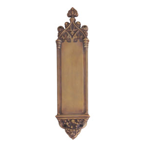 Gothic Aged Brass 16-Inch Push Plate