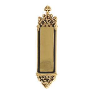 Gothic Highlighted Brass 16-Inch Push Plate