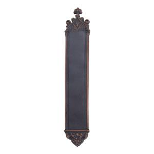 Gothic Venetian Bronze 23 3/4-Inch Push Plate