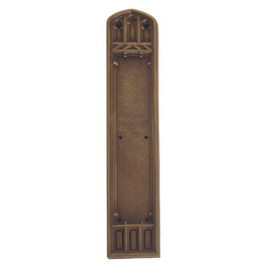 Oxford Aged Brass 18-Inch Push Plate