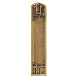 Oxford Highlighted Brass 18-Inch Push Plate