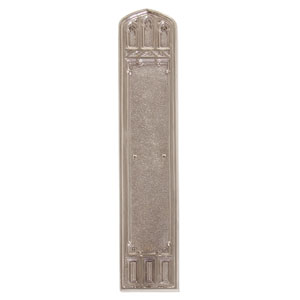 Oxford Satin Nickel 18-Inch Push Plate