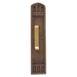 Oxford Aged Brass 18-Inch Pull Handle and Plate