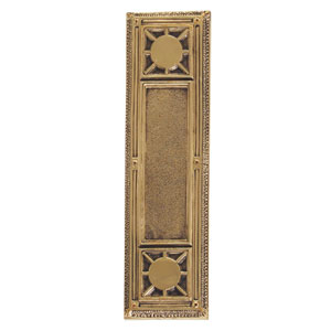 Nantucket Highlighted Brass 13 7/8-Inch Push Plate