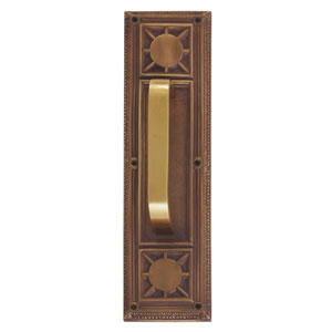 Nantucket Aged Brass 13 7/8-Inch Pull Handle and Plate