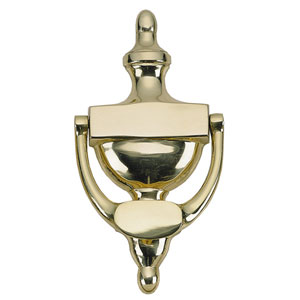 Traditional Polished Brass 6-Inch Door Knocker