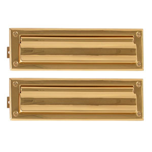 Traditional Polished Brass 3.63-Inch x 13-Inch Mail Slot