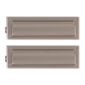 Traditional Satin Nickel 3.63-Inch x 13-Inch Mail Slot