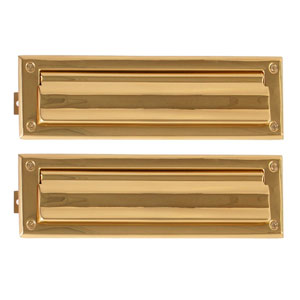 Traditional Polished Brass 3-Inch x 10-Inch Mail Slot