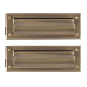 Traditional Antique Brass 3-Inch x 10-Inch Mail Slot