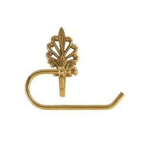 Fleur De Lis European Lacquered Polished Brass Toilet Paper Holder