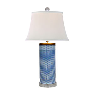Porcelain Blue and White 33-Inch One-Light Table Lamp