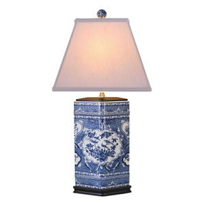 Porcelain Blue and White 26-Inch One-Light Table Lamp
