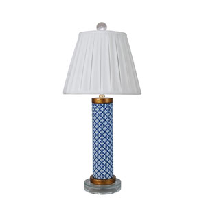 Porcelain Ware Blue and White 22-Inch One-Light Table Lamp