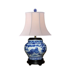 Porcelain Blue and White 24-Inch One-Light Table Lamp
