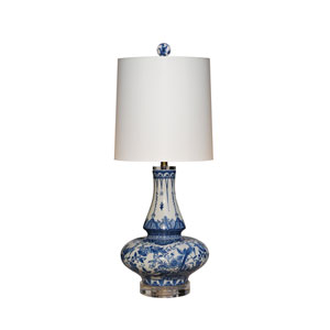 Porcelain Ware Blue and White 27-Inch One-Light Table Lamp