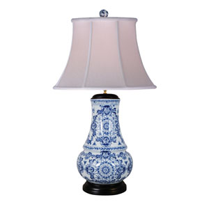 Porcelain Blue and White 31-Inch One-Light Table Lamp