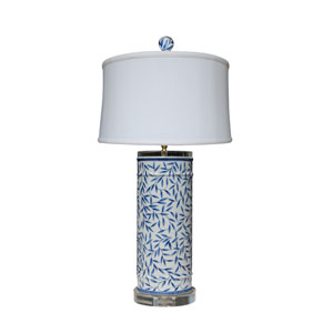 Porcelain Ware Blue and White 29-Inch One-Light Table Lamp