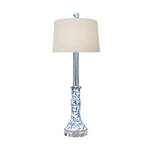 Porcelain Ware Blue and White Two-Light Table Lamp