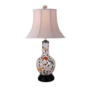 Porcelain Multicolored 26-Inch One-Light Table Lamp