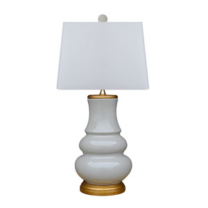 Porcelain Gray and Gold One-Light Table Lamp