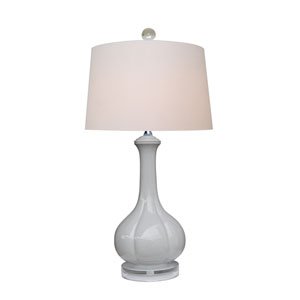 Porcelain Gray One-Light Table Lamp