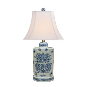 Porcelain Blue and White 25-Inch One-Light Table Lamp