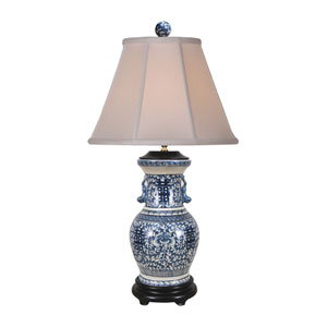 Porcelain Ware Blue and White 30-Inch One-Light Table Lamp