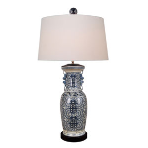 Porcelain Blue and White 39-Inch One-Light Table Lamp