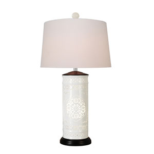 Porcelain White 27-Inch One-Light Table Lamp