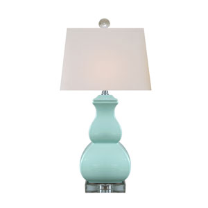 Porcelain Spa Blue 22-Inch One-Light Table Lamp