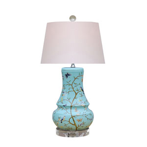 Porcelain Ware Blue and White 23-Inch One-Light Table Lamp