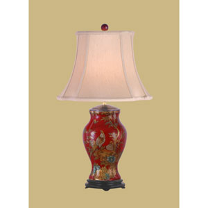 Red Antique 27-Inch Hand Painted Table Lamp