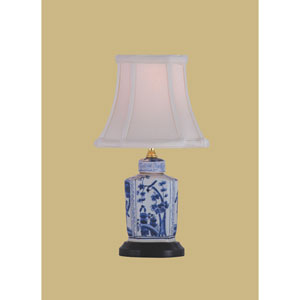 Porcelain Ware One-Light Blue and White Mini Lamp