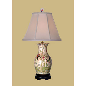 Birds Porcelain Vase Table Lamp