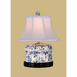 White 15-Inch Jar Table Lamp