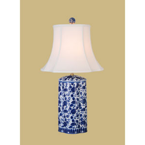 Blue and White 27-Inch Vase Table Lamp
