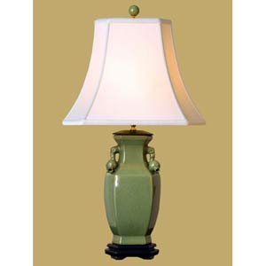 Celadon Vase Table Lamp