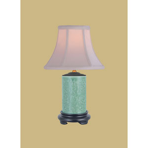 Porcelain Ware One-Light Celadon Small Lamp