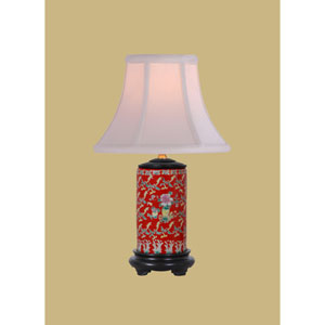 Porcelain Ware One-Light Red Small Lamp