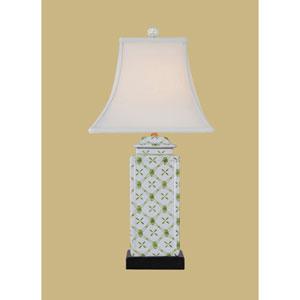Porcelain Ware One-Light White Jar Lamp