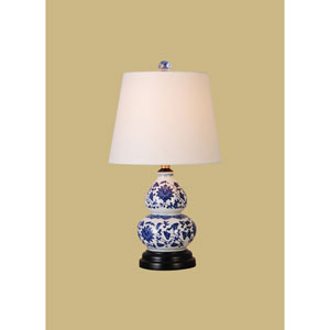 Porcelain Ware One-Light Blue and White Small Lamp