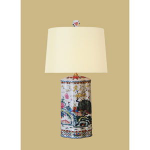 White 25-Inch Vase Table Lamp