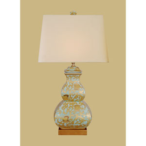 Porcelain Ware One-Light Square Gourd Lamp
