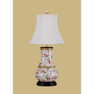 Porcelain Ware One-Light Multicolor Vase Lamp