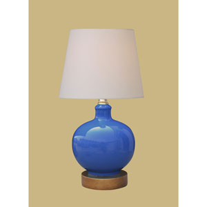 Porcelain Ware One-Light Small Blue Lamp