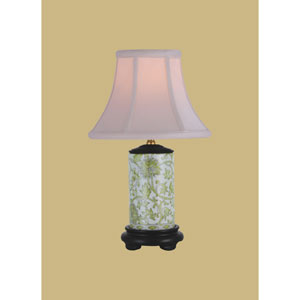 Porcelain Ware One-Light Small Green Lamp